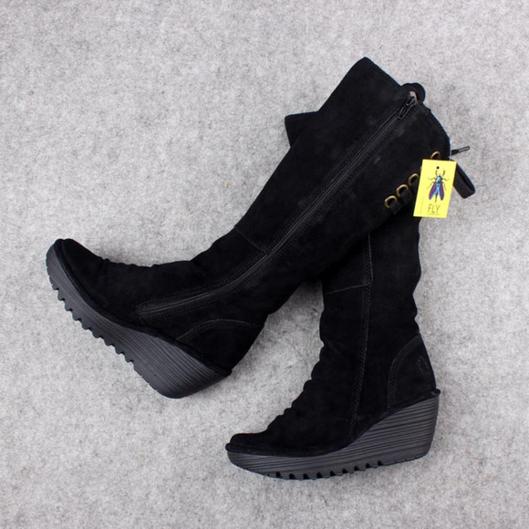 9db2cd3db92e New Fly London Yust Black Tall boots 39 40 41